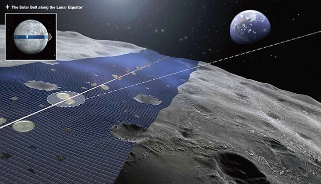 Solar Farm Ring Around the Moon?