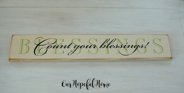 Count Your Blessings wooden farmhouse sign