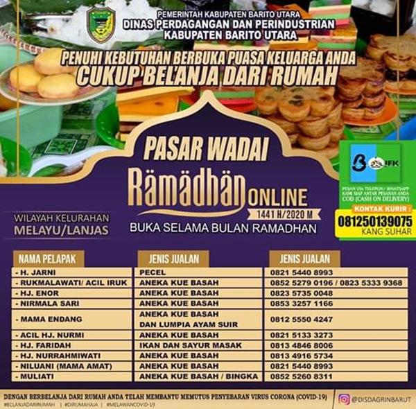 Pasar Wadai Ramadhan Online Barito Utara Sudah Dibuka