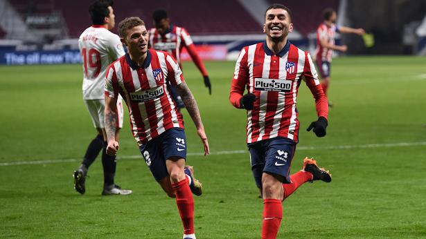 ملخص مباراة اتليتكو مدريد واشبيلية (2-0) في الدوري الاسباني