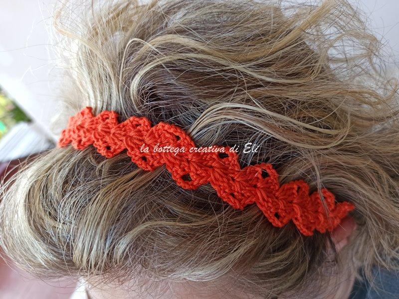 cerchietto a fascia capelli handmade
