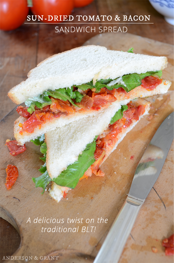 Sun dried tomato and bacon sandwich