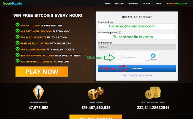 Como ganar Bitcoin gratis con FreeBitcoin