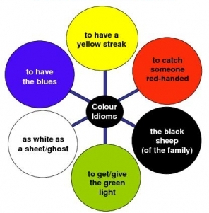 colour idioms with sentences