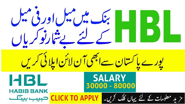 New Latest HBL 🏦 Jobs 2019 | New jobs in Bank Online Apply