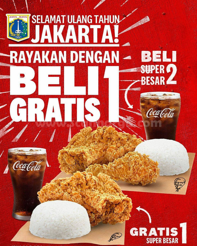 Promo KFC HUT DKI JAKARTA Spesial BELI 1 GRATIS 1