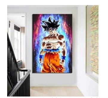 cuadro de pared goku ultra instinto para decorar