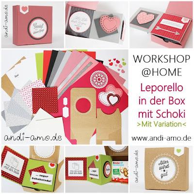Workshop@Home Leporello in der Schoko-Box