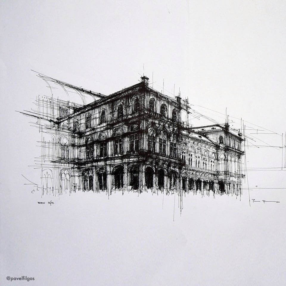 11-Wien-Opera-House-Pavel-Filgas-Urban-Drawings-Architecture-on-our-Streets-www-designstack-co