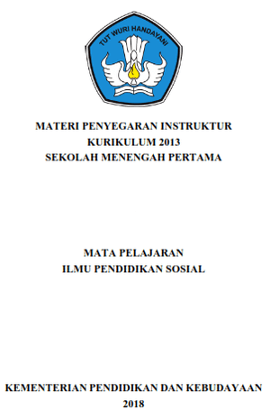 Materi Penyegaran Instruktur Kurikulum 1013 SMP IPS Tahun 2018