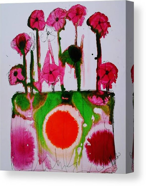 Spring flowers Canvas Print, Miabo Enyadike