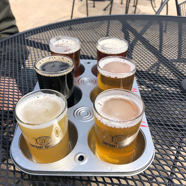 I love the way Contrary Brewing Co. serves up their beer samplers!