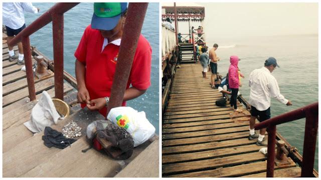 Huanchaco pier fishing