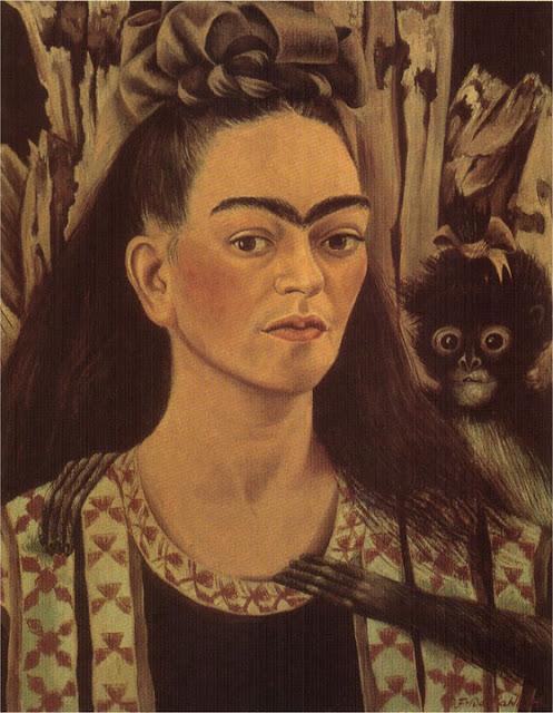 Фрида Кало - Автопортрет с обезьянкой. 1945