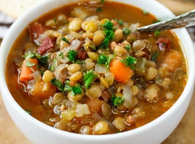 Italian Lentil Soup #dinner #soup
