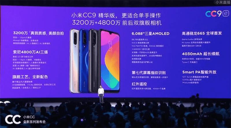 Xiaomi releases camera-focused Mi CC9 and CC9e