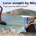 Lose weight by morning yoga and the nice breeze||