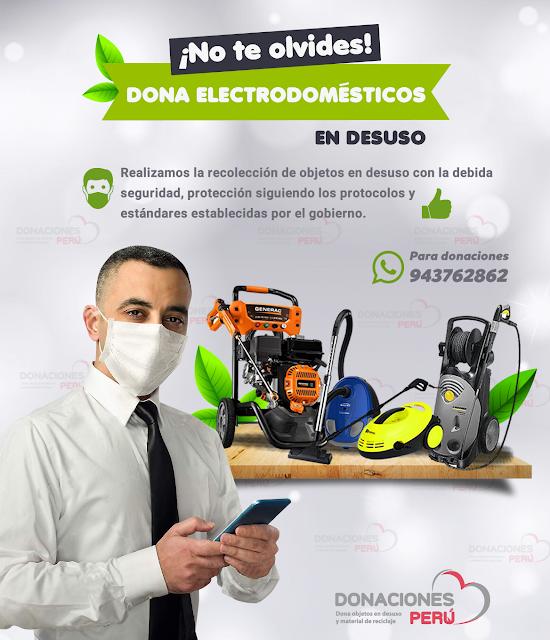 Dona y recicla electrodomésticos de limpieza