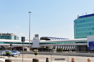 The entrance to Fiumicino Airport today