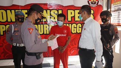 Residivis Narkoba Digelandang Satresnarkoba Polres Purbalingga