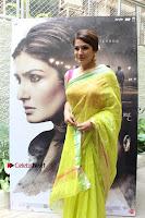 Bollywood Actress Raveena Tandon in Transparent Green Saree at Trailer Launch Of Film Maatr  0009.JPG
