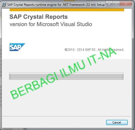 Memunculkan Crystal Report Viewer di Visual Studio 2010