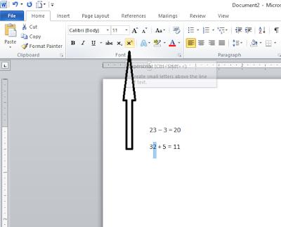 Cara Membuat Tulisan Pangkat (Kuadrat) Pada Microsoft Word, cara membuat kuadrat pada word, cara membuat pangkat pada word, tutorial membuat tulisan pangkat pada microsoft word, membuat rumus matematika pada microsoft word