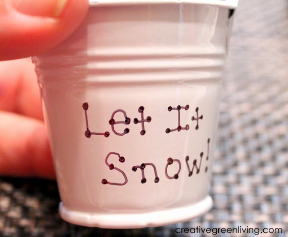 #letitsnow #creativegreenliving