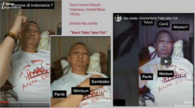 Abu Janda terserang Virus Corona