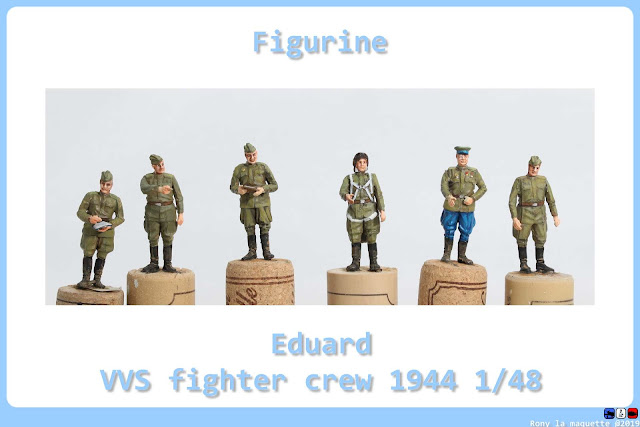 Figurine de la VVS Fighter crew 1944 au 1/48.