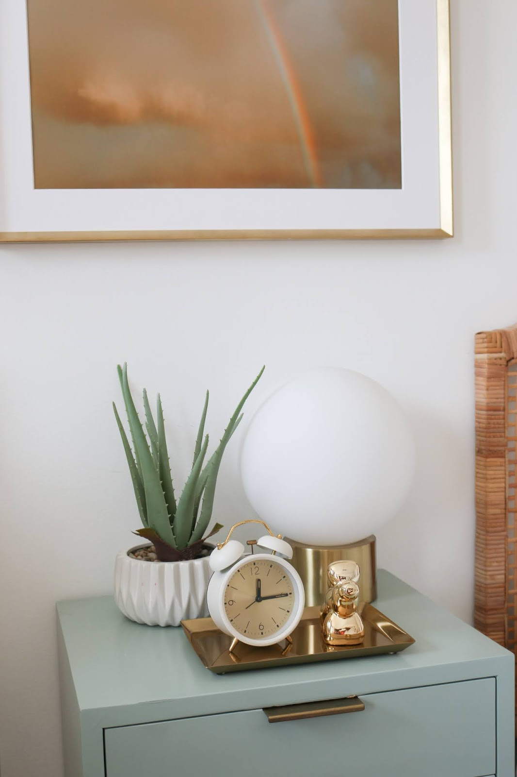Nightstand Styling in a Kids Room