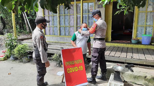 Polsek Pematang Karau Laksanakan  Ops Yustisi Covid-19 Bersama TNI Dan Satpol PP