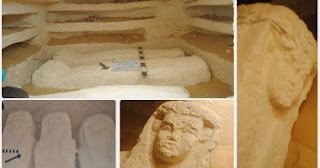 The discovery of 3 tombs dating back to the Ptolemaic era in Menia