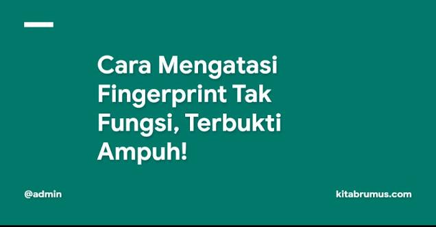 Cara Mengatasi Fingerprint Tak Fungsi, Terbukti Ampuh!