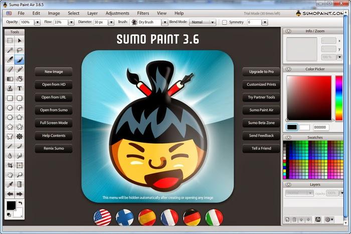 Sumo Site program,Photoshop