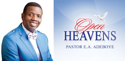 open Heaven, open heaven for today, open heavens