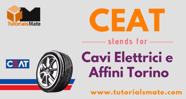 CEAT Full Form
