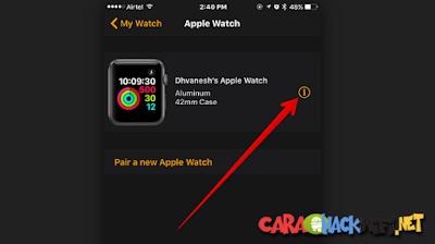 Cara Membackup settingan Apple Watch