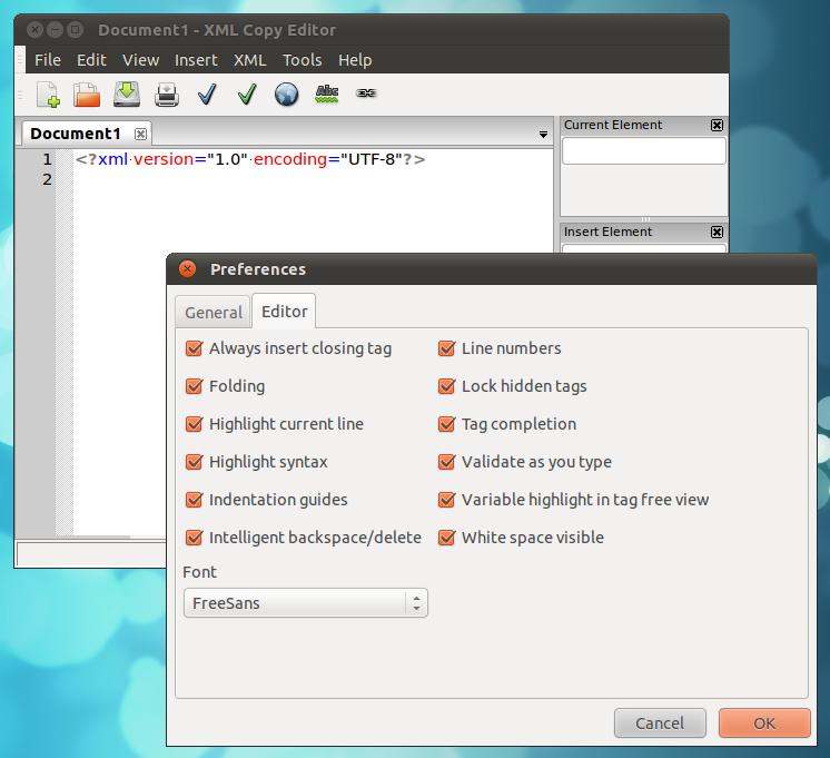 An Excellent XML Editor for Ubuntu: XML Copy Editor!