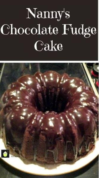 Nanny's Chocolate Fudge Brownie Cake