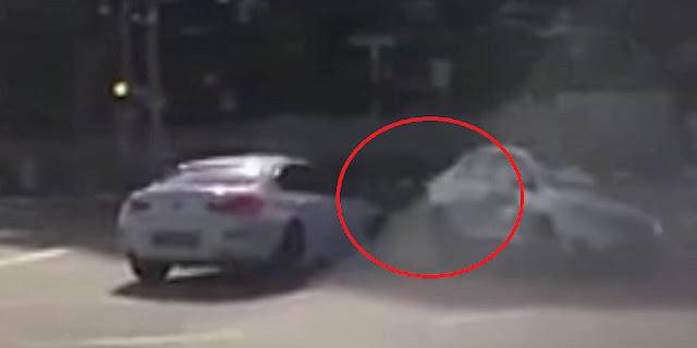 Choque con auto 'fantasma' causa temor en redes sociales (VIDEO)
