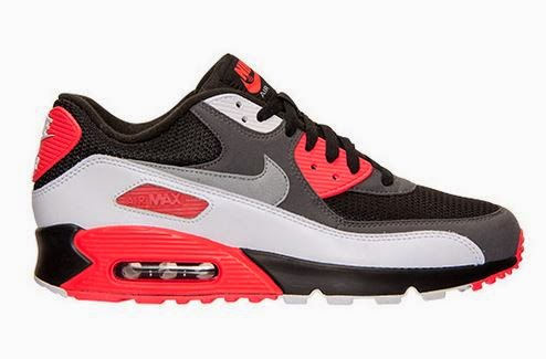 2d4f46684a863 Here is a look at the brand new Nike Air Max 90 OG Bright Crimson Sneaker  Available Now HERE