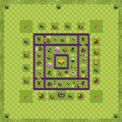 War Base Town Hall Level 7 By Angel Rose Dioso (COC TH 7 Layout)