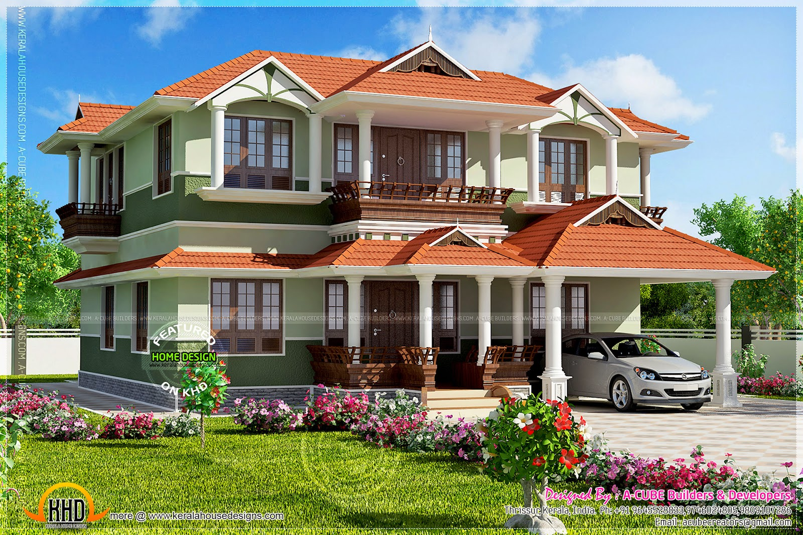 June 2014 kerala home design and floor plans for Kerala house designs 2014