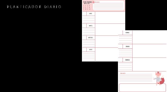 planficador, mensual, semanal, anual, descargar, gratis, pdf, imprimir