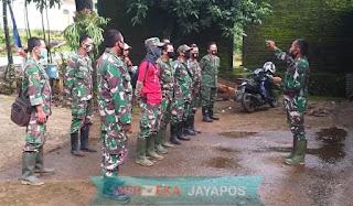 Penyampaian Batih Bakti TNI Pada Apel Pagi TMMD