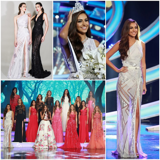 SASHES AND TIARAS.....MISS LEBANON 2015, Winner Valerie Abou Chacra + Zuhair Murad Resort 2016 Collection Evening Gown Recap