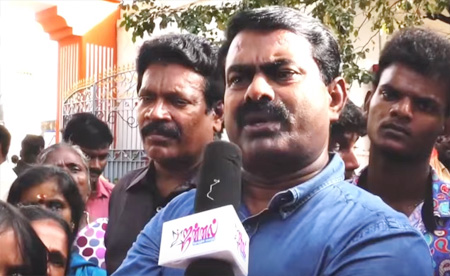 Seeman asked People to defeat both DMK and ADMK