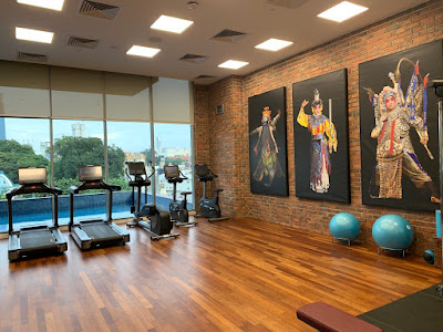 Hotel's fitness centre, operating 24 hours