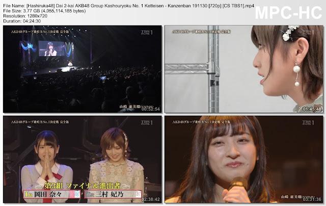 Dai 2-kai AKB48 Group Kashouryoku No. 1 Ketteisen – Kanzenban 191130 (CS TBS1)